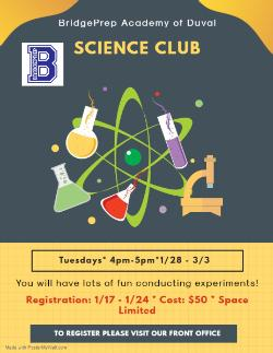 Science Club - starting soon